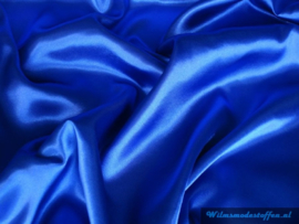 Polyester satijn kobalt blauw