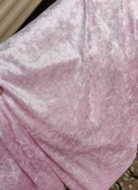 Velours de panne baby rose