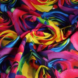 Roos digitaal bedrukt multicolor