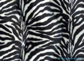 Velboa zebra klein zwart/wit