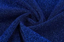 Lurex dans donker kobalt