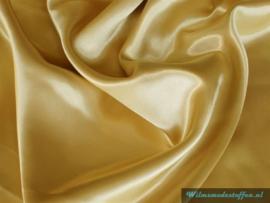 Polyester satijn goud/geel