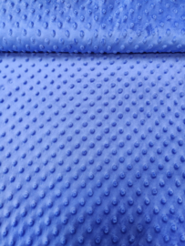 Minky kobalt blauw
