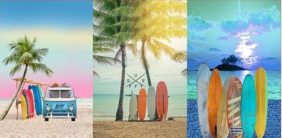 Stenzo panel 17202 (75x150cm) Surf