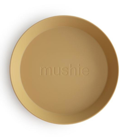 Mushie Rond Bord (set van 2) Mosterd