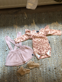Babystyling romper flower pink