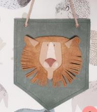 Atelier Ovive wandhanger leeuw blauw