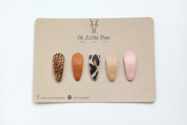 Oh Little Deer Ivy, wildy set of 5 little snap clips