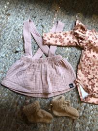 Babystyling bretels jurkje roze