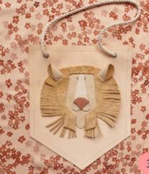 Atelier Ovive wandhanger leeuw beige