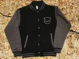 Varsity Sweat-jacket DarkGrey-Black