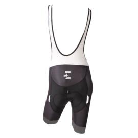 Eurosport Korte broek bretel met zeem, zwart/grijs