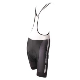 Eurosport Korte broek bretel met zeem, zwart/zwart