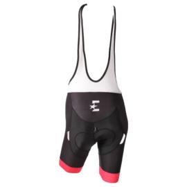 Eurosport Korte broek bretel met zeem, Zwart/roze