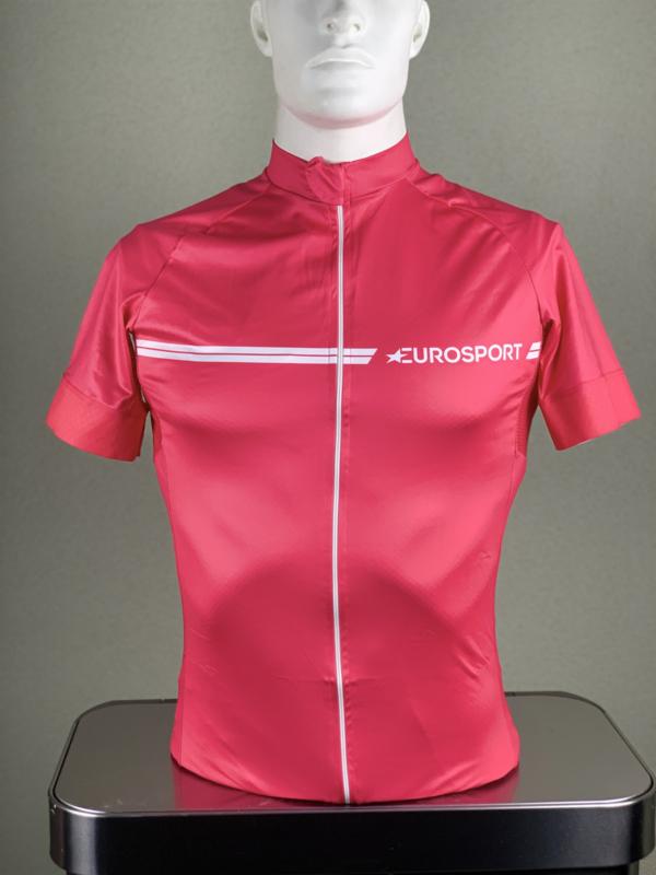 Korte mouw, Eurosport, retro pink
