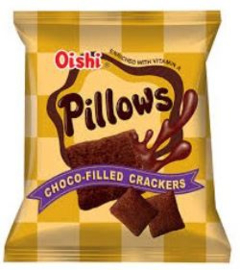 OISHI Pillow Choco-filled crackers 38g