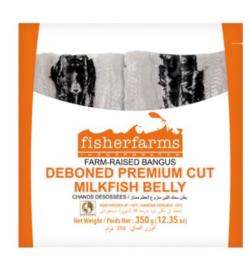 FisherFarms Gefileerde Melkvis (Middendeel) Bangus belly 350g