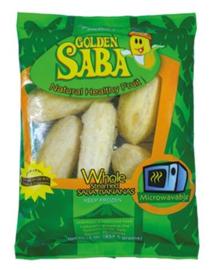 Golden Saba Gestoomde Saba Bananen (Heel) 454g