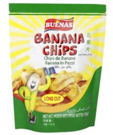 Buenas Banana Chips Long Cuts 175g