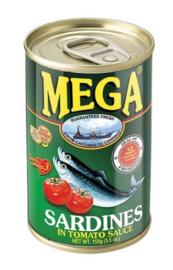 Mega Sardientjes in Tomatensaus 155g