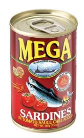 Mega Sardientjes in Tomatensaus met Chili 155g