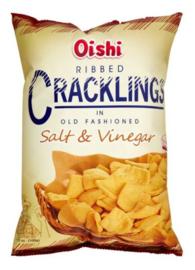 Oishi Ribbed Cracking Salt and Vinegar 90g