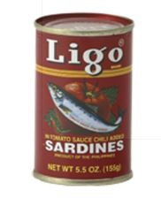 Ligo Sardientjes in Hete Tomatensaus 155g