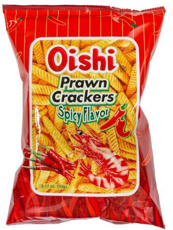 Oishi Prawn Crackers Spicy 90g