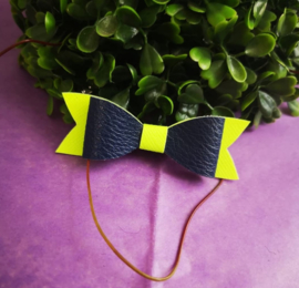 black/neon bow