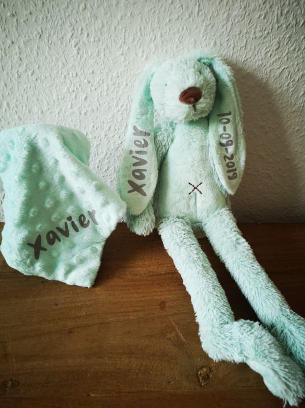 geboorte knuffel met doek