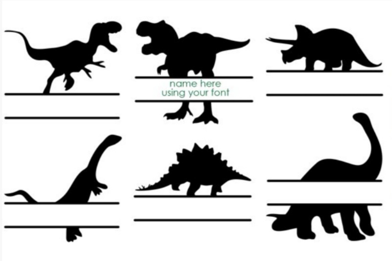 Dino naam sticker