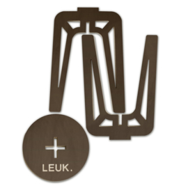 LEUK krukje/bijzet tafel - hout -blank/bruin - 36 x 36 x 50