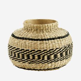 Madam stolz round seagrass vase