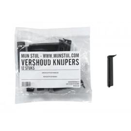 Vershoudknijpers pp eco friendly zwart zak 12 stuks