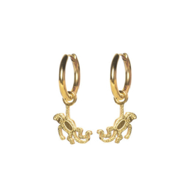 Earrings monkey gold