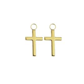 Oorbellen paar hangers | KRUIS goud