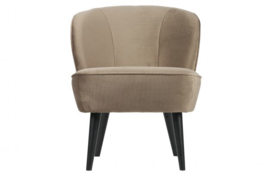 Sara fauteuil fluweel olijfgoud