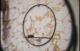metalen ronde theelicht hanger