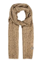 sjaal met twijgenprint kaki