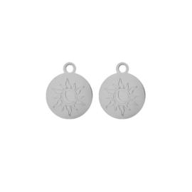 Oorbellen paar hangers | SUN&MOON zilver