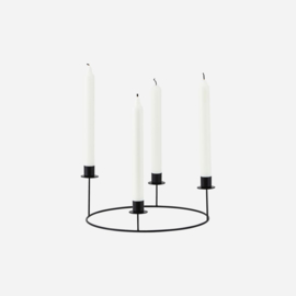 Candle stand, Ring, Black