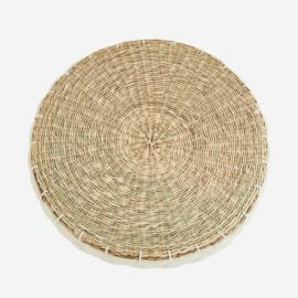 Madam Stolz Round seagrass chair pad
