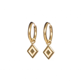 Earrings ruby gold