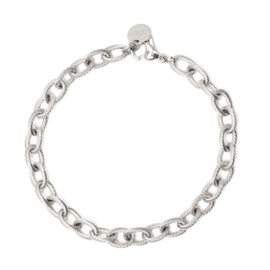 Armband chain big luxe zilver