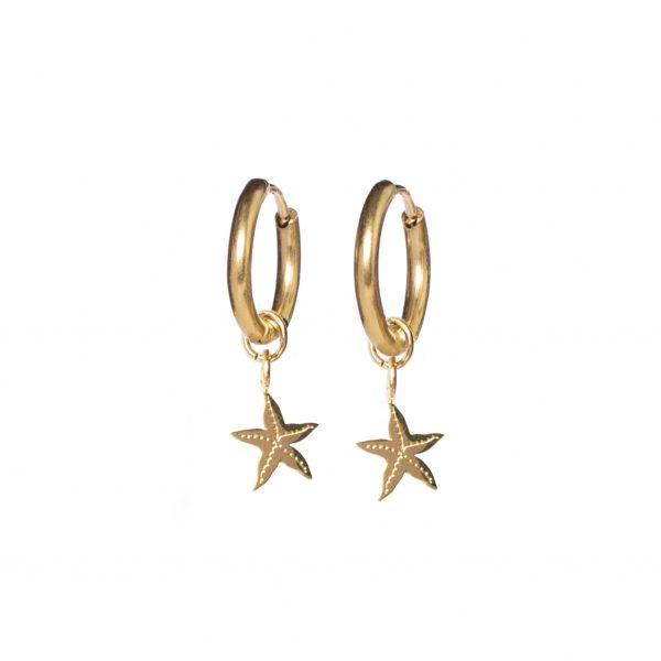 Earrings starfish gold