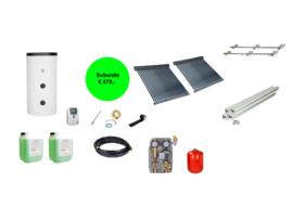 Doe het zelf - 500L Buffertank - 2 x 30 heatpipes 4.56 m2 - cv ondersteuning en tapwater