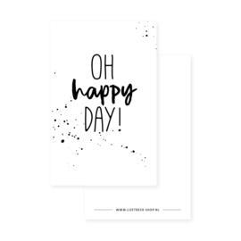 Minikaartje 85x55 • Oh happy day!