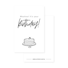 Minikaartje 85x55 • Woohoo! It's your birthday!