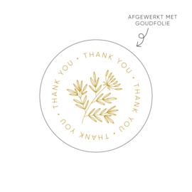 Sticker Thank you • Rol 500 stuks • ø40mm