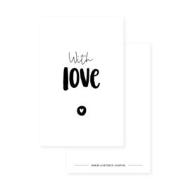 Minikaartje 85x55 • With love ♥